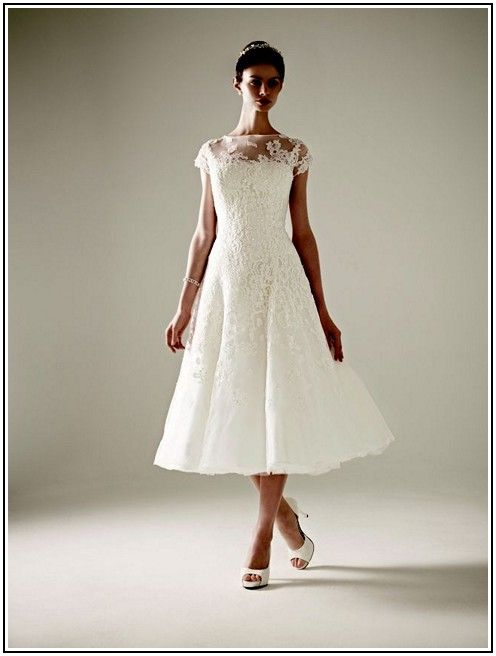 Tea Length Wedding Dress Davids Bridal Re