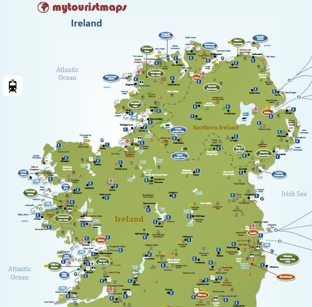 Interactive Map Of Ireland.Interactive Tourist Map Ireland Mytouristmaps Com Tourist Map