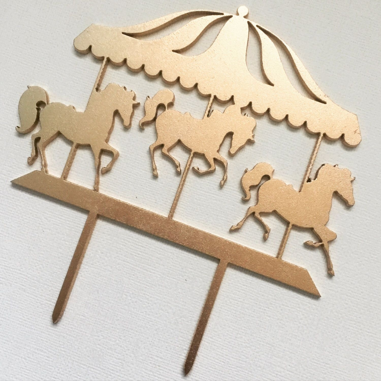 Carousel Cake Topper Horses Carnival Birthday Cake Topper