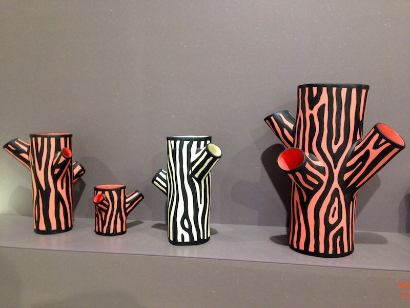 Tree Trunk vases by Richard Woods for Hay