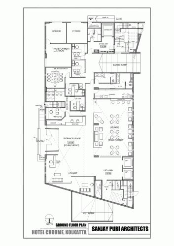 Chrome Hotel Sanjay Puri Architects Hotel Architecture Hotel Plan Hotel Room Plan