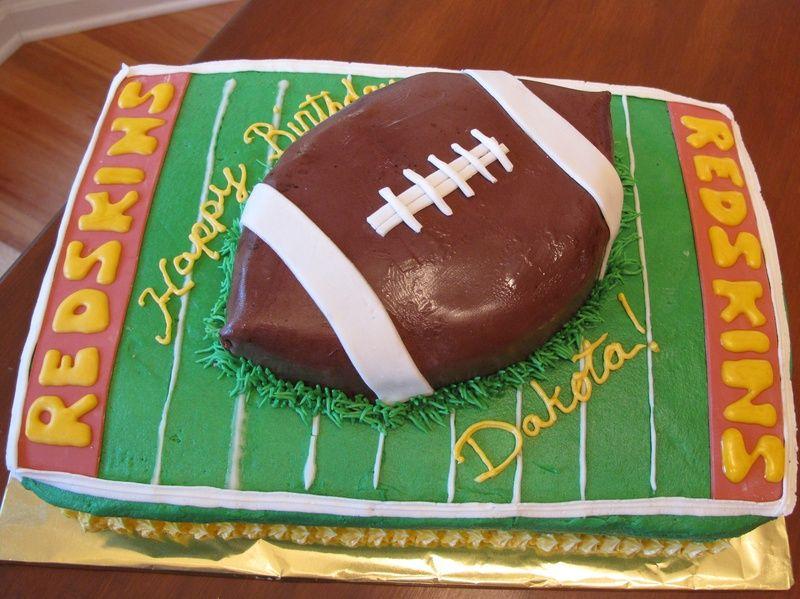 football redskins cake plus other fun cake ideas cakes pinterest