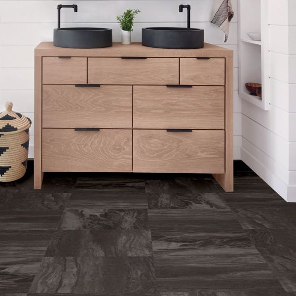Raven L And Stick Floor Tiles In