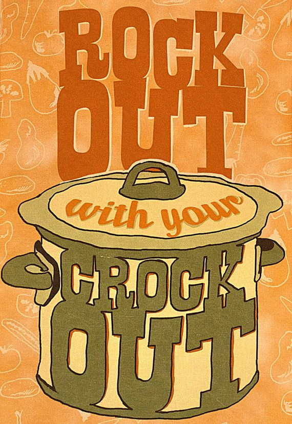 Rock Out With Your Crock Out Linen Cotton Decorative Printed Tea