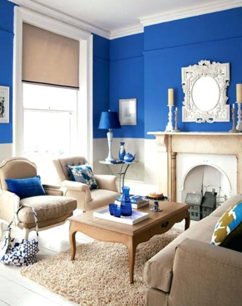 Beige Und Blau Wohnzimmer | New House Ideas | Pinterest | Home, Home Decor  And Room