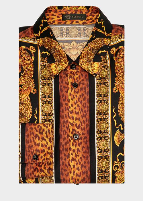 aa8e8cba554 Signature Wild Print Silk Shirt - Versace Shirts | My Style in 2019 ...