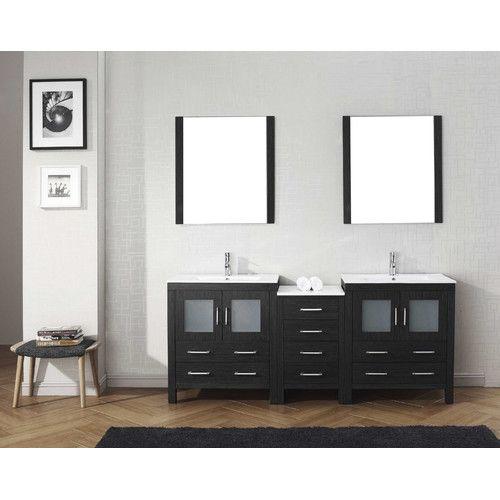 "Found it at Wayfair - Dior 82"" Double Bathroom Vanity Set with Mirror"