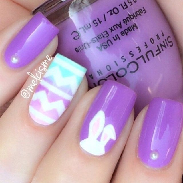 Love These Spring Themed Nails Cute Love Nails P Pinterest