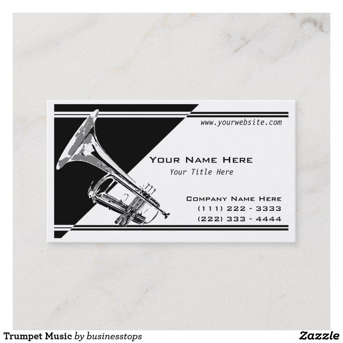 Trumpet Music Business Card