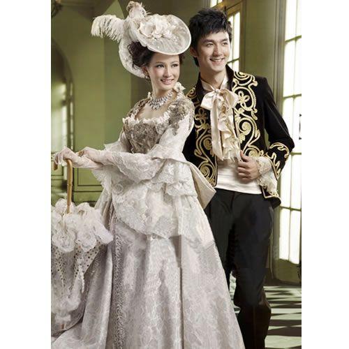 Men Women Colonial Victorian Era Famous Couples Dress -7730