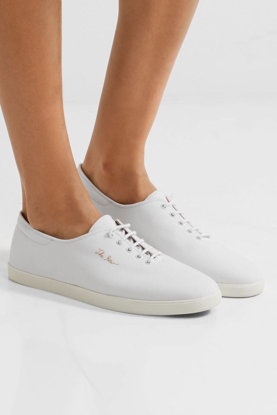 Womens Dean Canvas Sneakers The Row 74StIuMdf