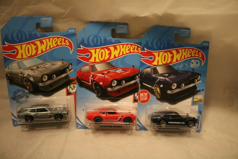 Details About Hot Wheels Custom Ford Maverick Lot Of 3 Blue Red