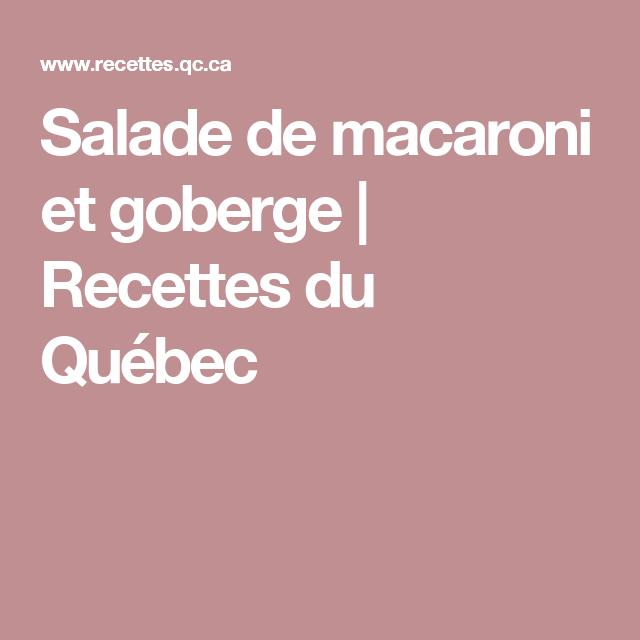Salade de macaroni et goberge | Recettes du Québec