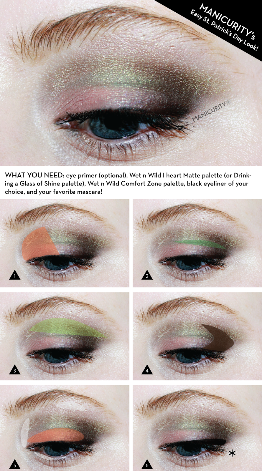 Manicurity: St. Patricks A Day Late! EOTD + Tutorial