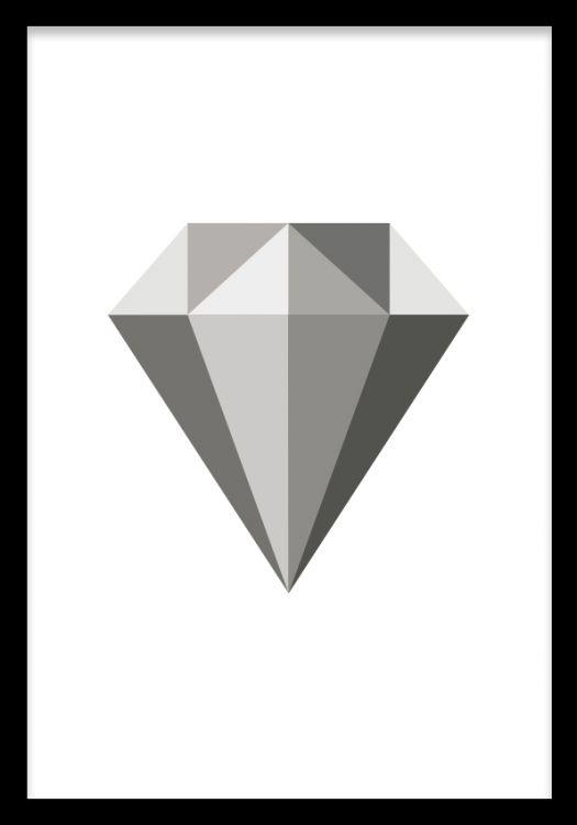 Grey Diamond, poster ryhmässä Julisteet ja printit @ Desenio AB (7907)