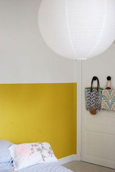 deco chambre mur jaune mr mrs clynk | Des couleurs dans la chambre ...