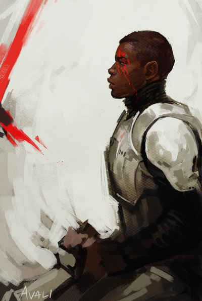 avaliart:  A little Star Wars sketch for the day because this movie stole my heart.