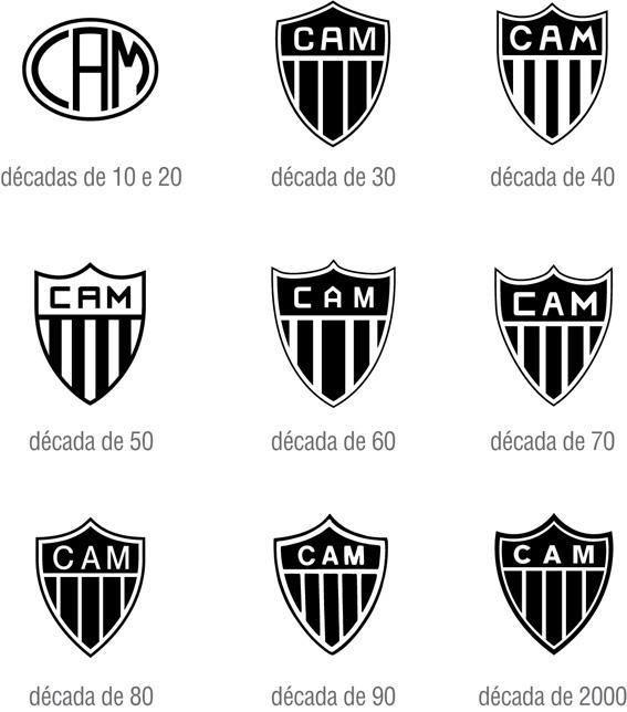Evolucao Dos Escudos Do Galo Atletico Mg Atletico Clube Atletico Mineiro