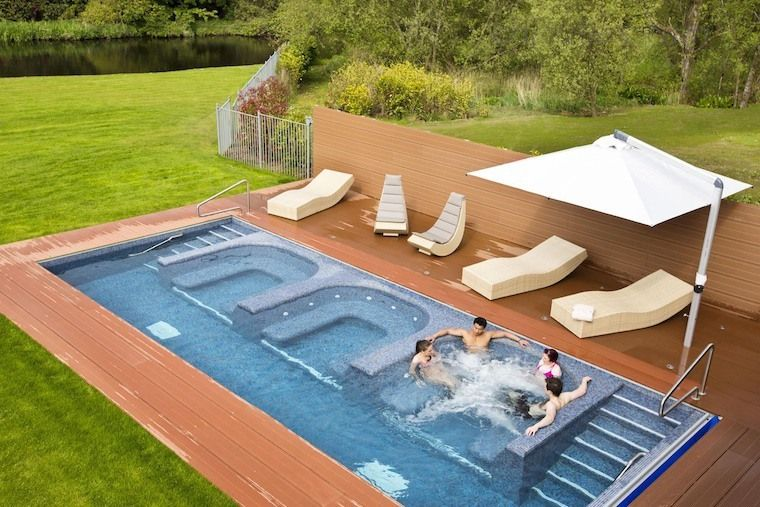 58 Stunning Garden Hot Tub Deck Design Ideas #hottubdeck