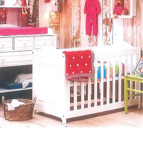 Lief Babybett Sprossenbett Houten 120x60cm Massivholz Weiß