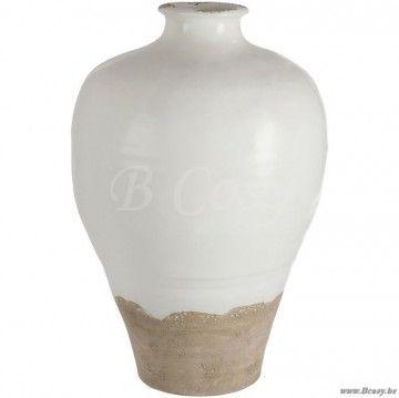 J Line Vaas Ovaal Keramiek Wit Beige 60h Span Style Font Size 0 01pt Jline By Jolipa 61158 Vaas Vase Vases Design Online Vente Onli Vazen Vaas Bloemenvaas