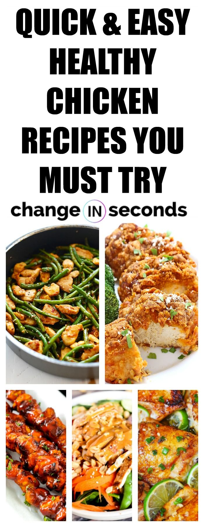 60 Easy And Healthy Chicken Recipes That Are Incredibly Delicious images