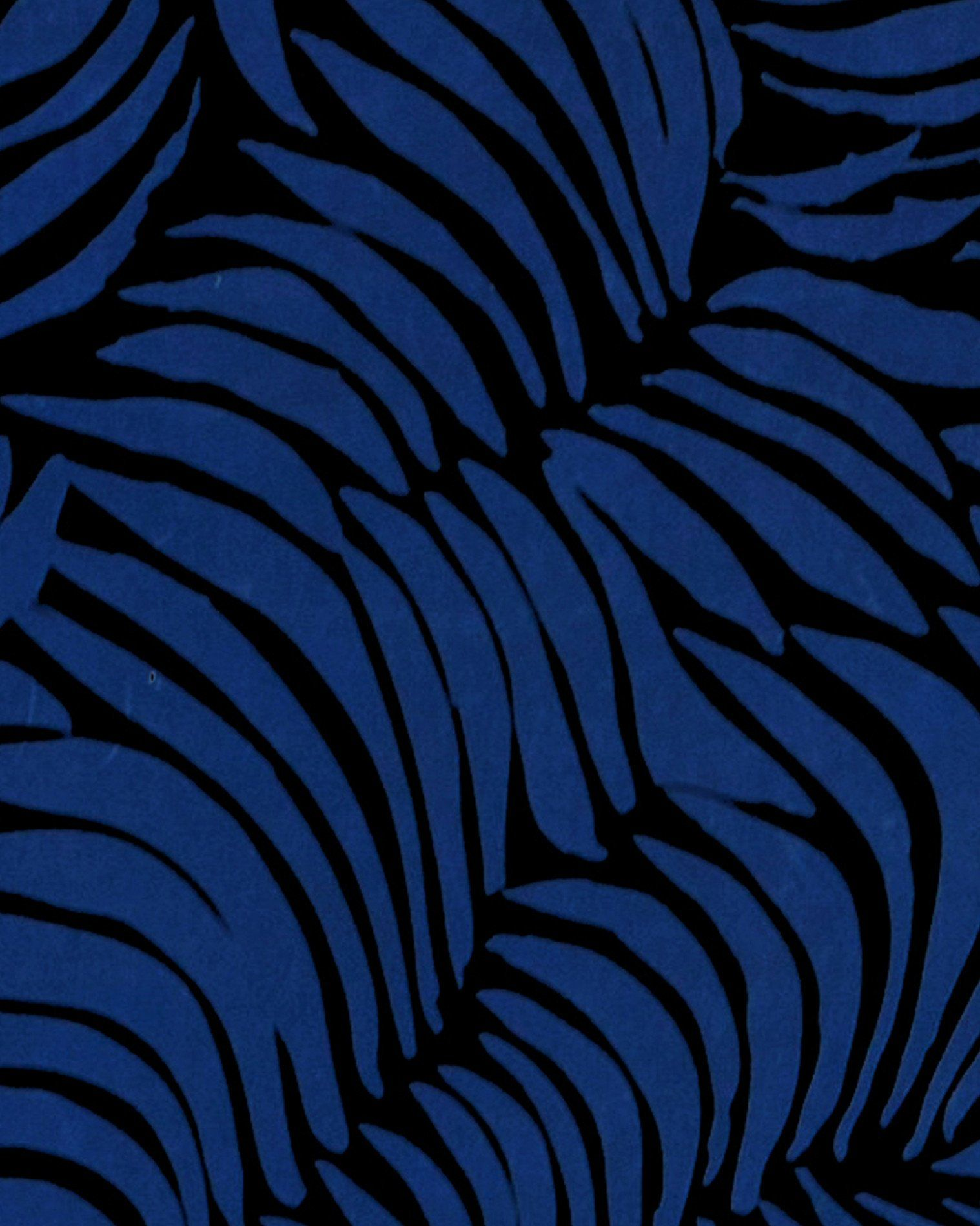 Sample Plume Wallpaper in Midnight design by Jill Malek