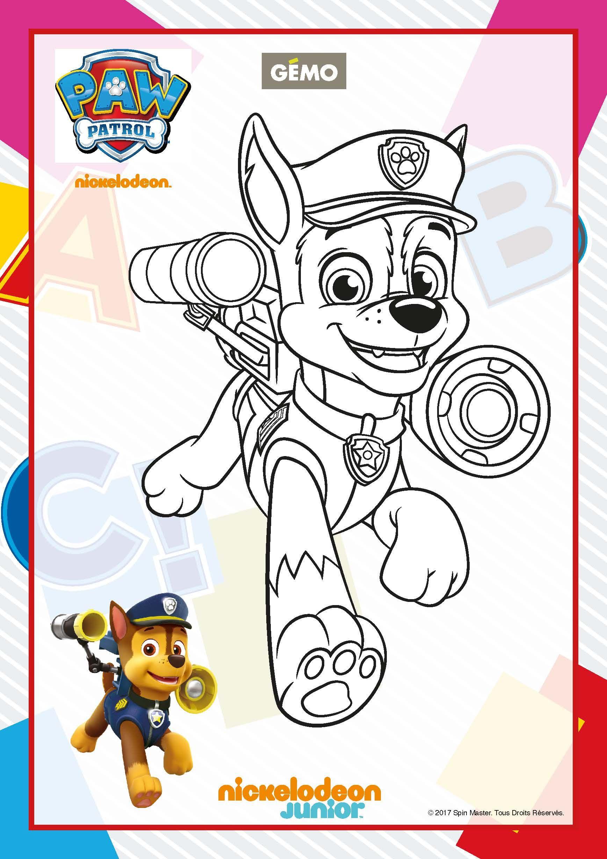 Paw Patrol Ausmalbilder - Schäferhund Chase Paw patrol