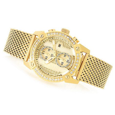 Invicta 44mm Specialty Quartz Chronograph Crystal Accented Stainless Steel Bracelet Watch