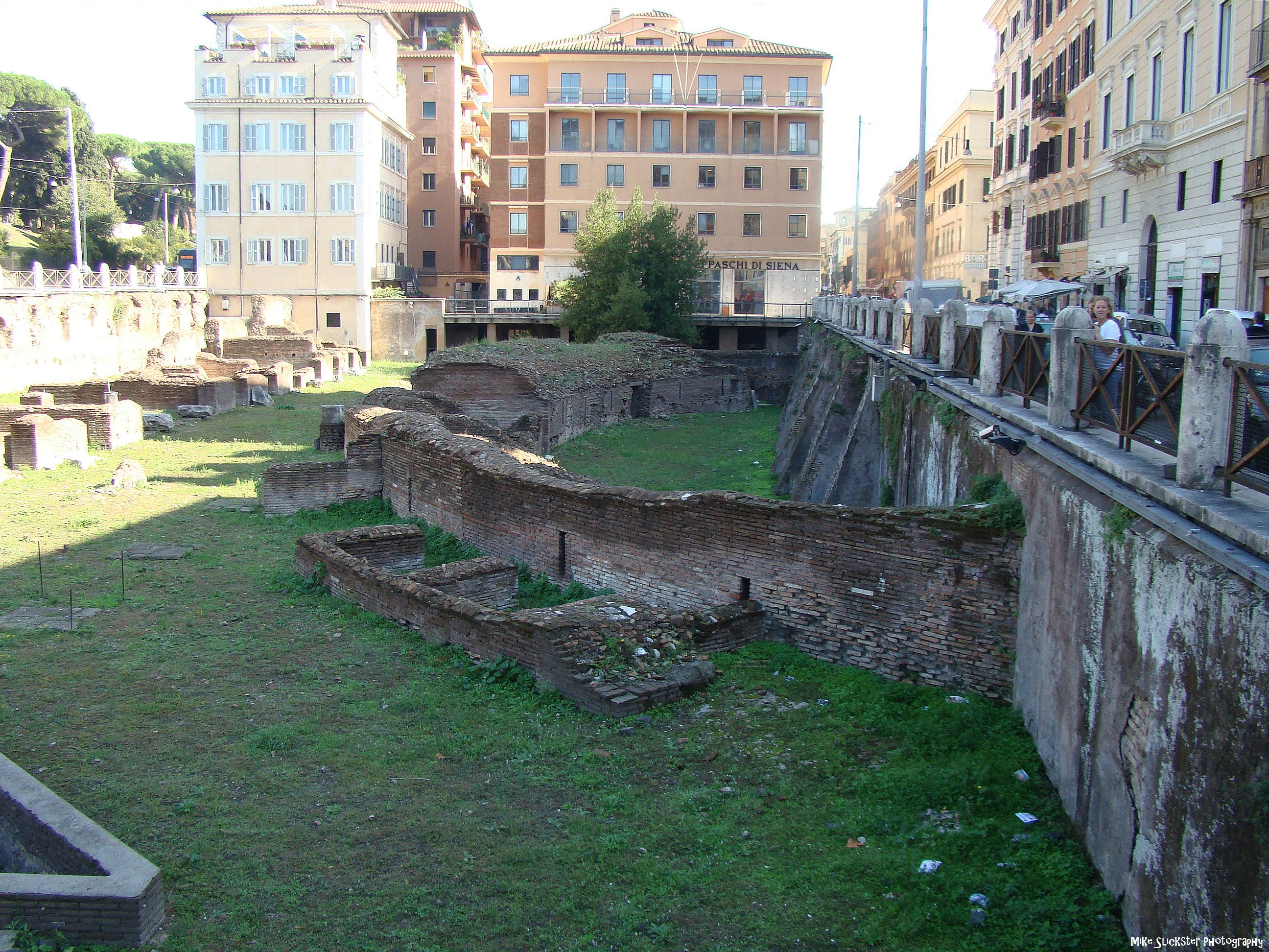 Remnant Of The Ludus Magnus Otherwise Known As The Gladiator School The Ruins Were Built Originally By The Emperor Domitian 81 96 Ce The Site Is Directly