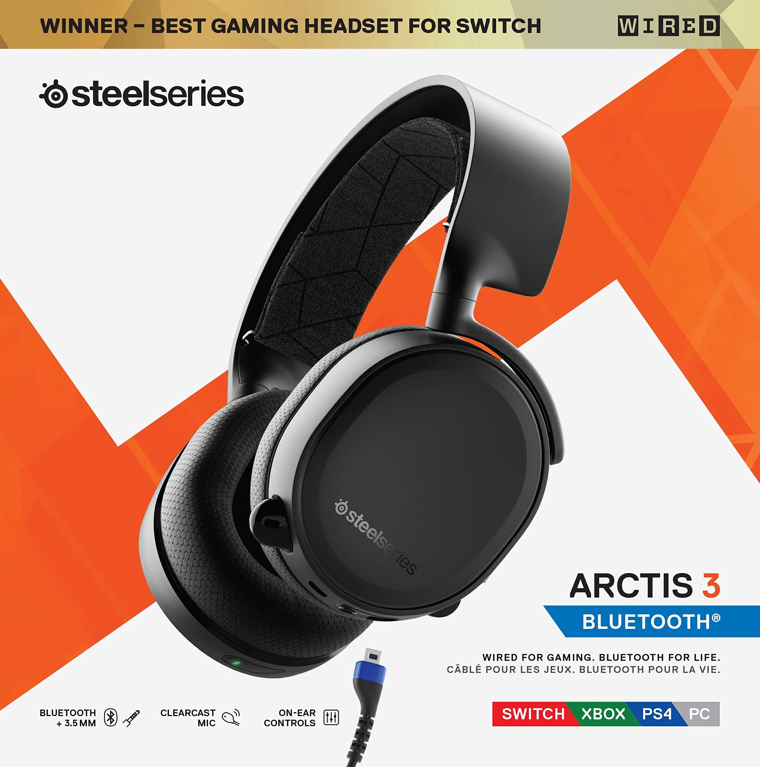 Steelseries Arctis 3 Bluetooth 2019 Edition Wired And Wireless Gaming Headset For Nintendo Switch Pc Playsta Wireless Gaming Headset Headset Gaming Headset