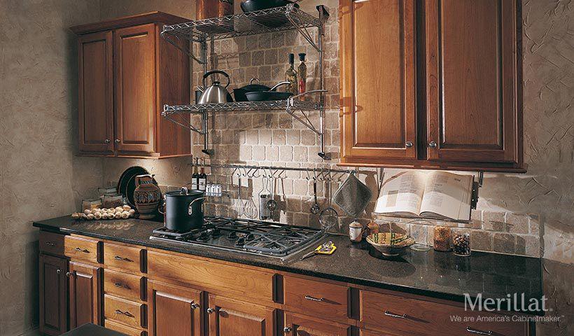 Backsplash! Merillat® Classic Seneca Ridge In Cherry Cider