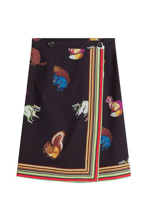 MARCO DE VINCENZO Printed Crepe Skirt. #marcodevincenzo #cloth #midi-skirts