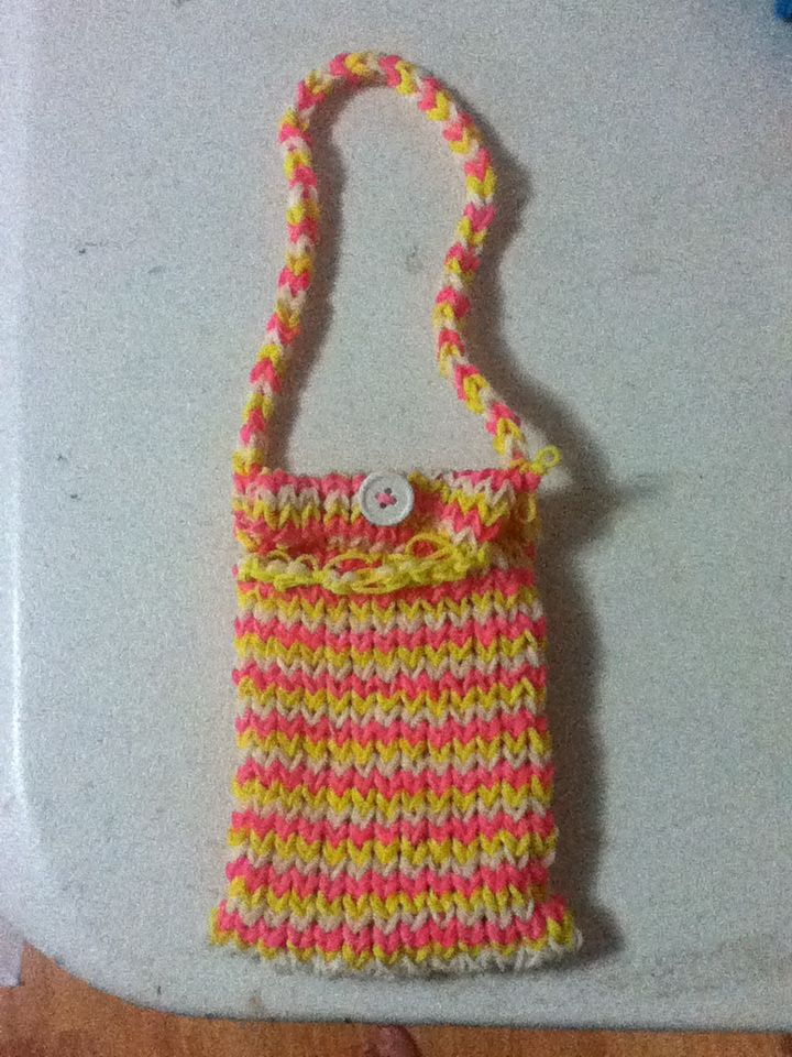 A rainbow loom purse (This took FOREVER, but it was worth it!)