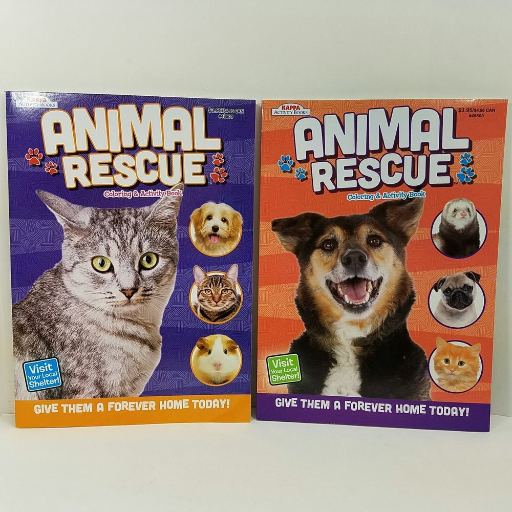 Animal Shelter Rescue Dog Cat Children Kappa Coloring Books Activities Kids Vintage