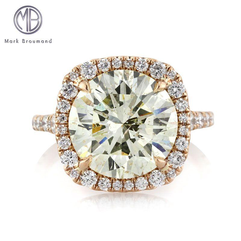 6.46ct Round Brilliant Cut Diamond Engagement Ring SKU: 3771-1