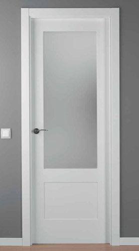 puerta lacada blanca mod lac 5102 1v vitrales para