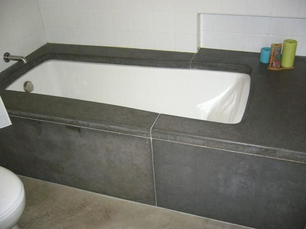 Budget Bathroom Makeovers Concrete Bathtub Beautiful