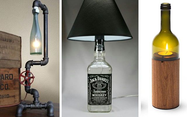 40 ideas para decorar con l mparas botella diy pinterest bottle and bottle art - Manualidades con lamparas ...