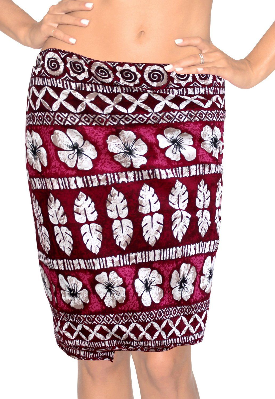 d4a20a45bd LA LEELA Women's Beachwear Bathing Mini Sarong Bikini Cover up Wrap Dress 8  - 129242
