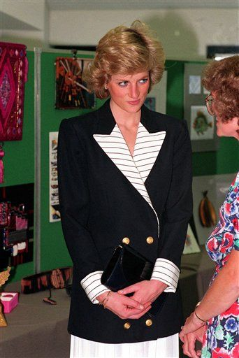 1989-09-06 Diana at the Chelmsford College of Further Education in Chelmsford, Essex