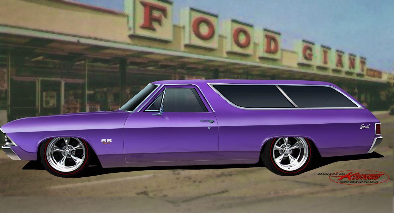 69 nomad wagon i designed for chevelle magazine