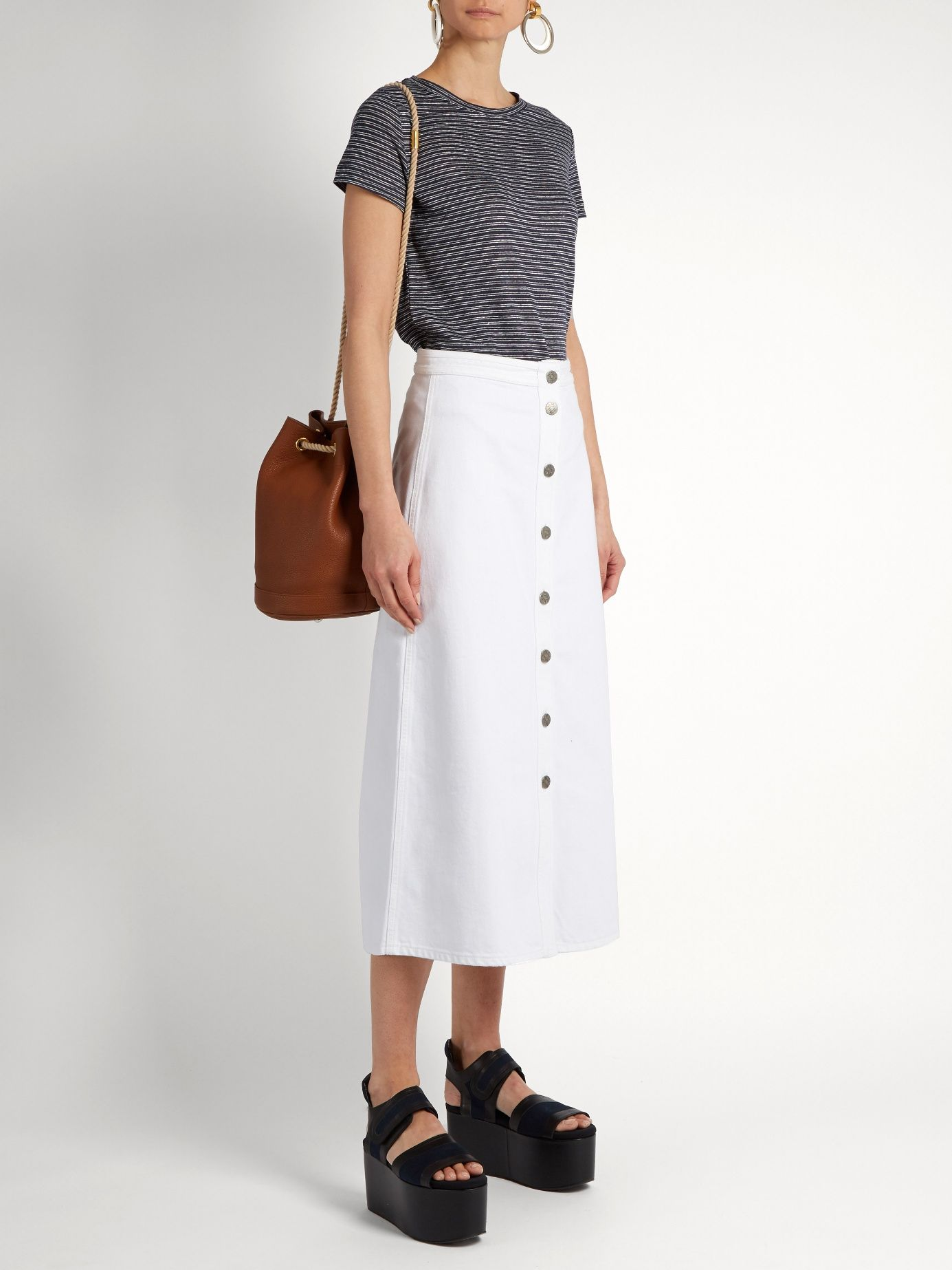 Super discount discount collection clearance sale Bell A-line denim midi skirt   M.i.h Jeans   MATCHESFASHION ...