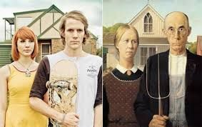 Image result for students use real life to recreate famous works of art- art history project