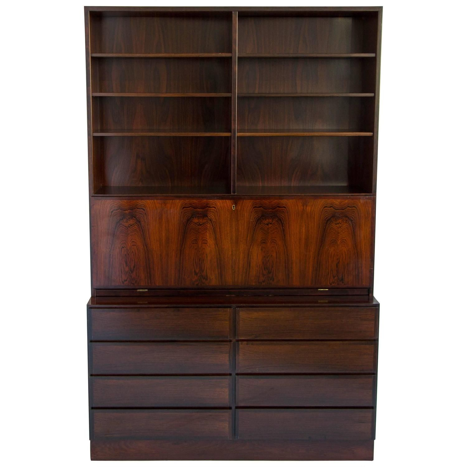 Gunni Oman Rosewood Desk And Shelving Unit - 1Stdibscom