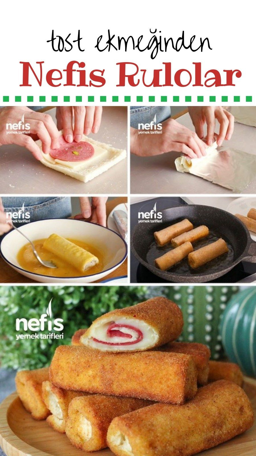 Kahvaltıya Özel Tost Ekmeğinden Çok Farklı Bir Tarif - Nefis Yemek Tarifleri
