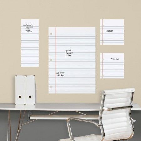 Bon Notebook Paper Dry Erase Wall Decals