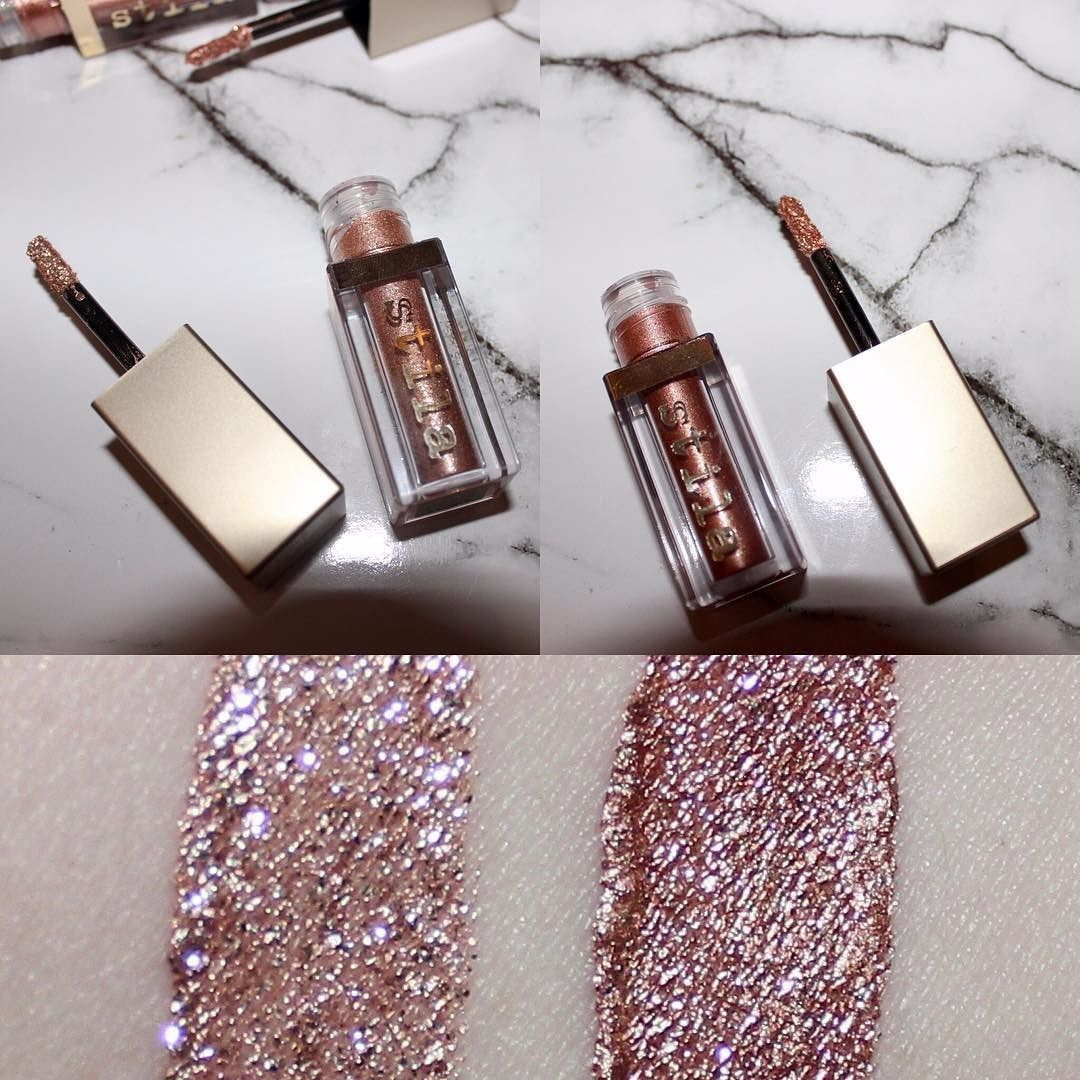 Magnificent Metal Cream Eyeshadows In Kitten Karma Left Rose Gold Retro Right Via Beauty Stila Glitter Eyeshadow Glowing Makeup Beauty Hair Makeup