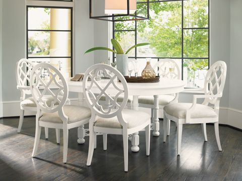 Lexington Home Brands Ivory Key Round Dining Table Set For the