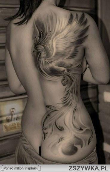 Feniks Tatuaż Na Plecach Szukaj W Google Feniks